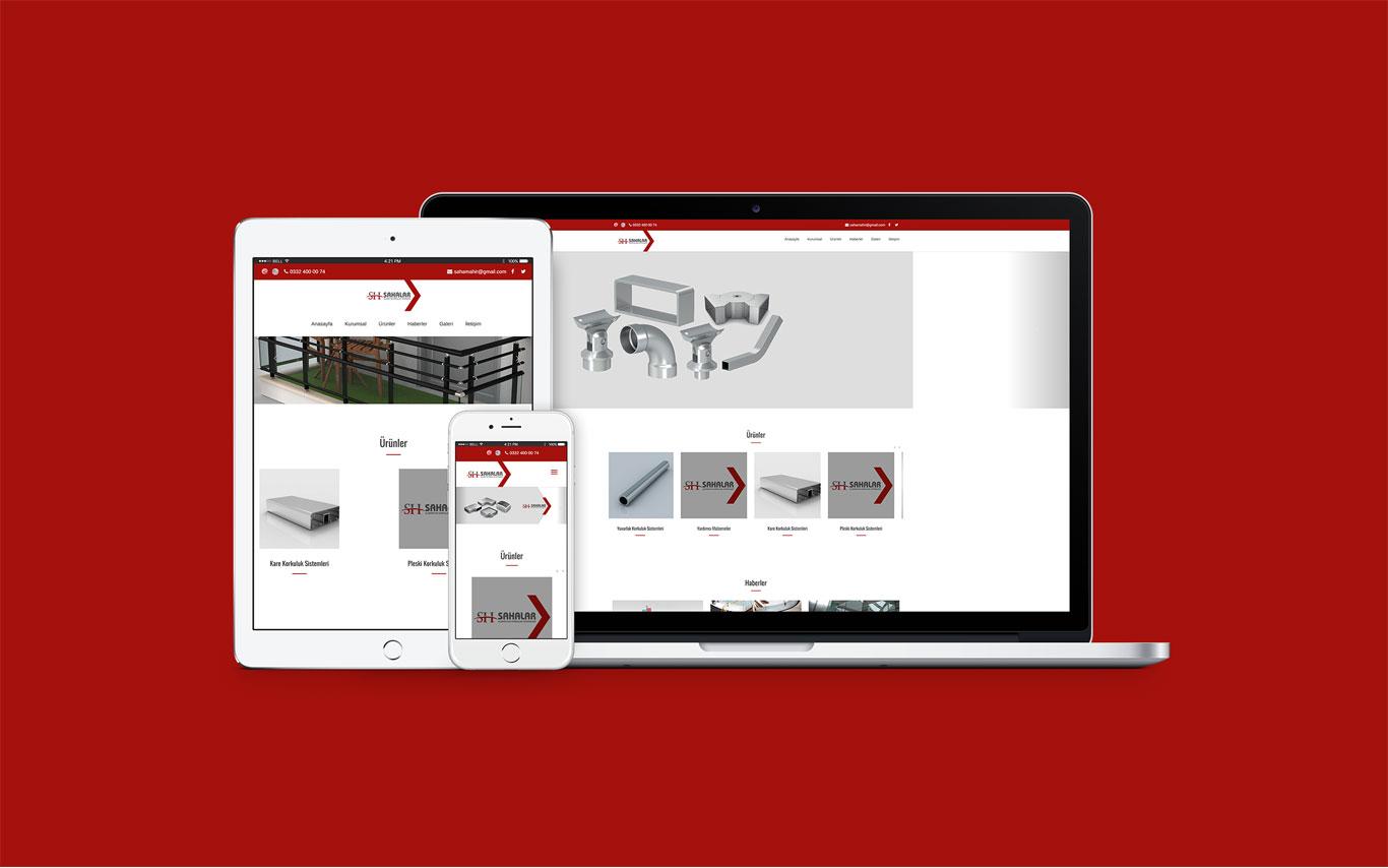 Sahalar Web Tasarım Çalışması