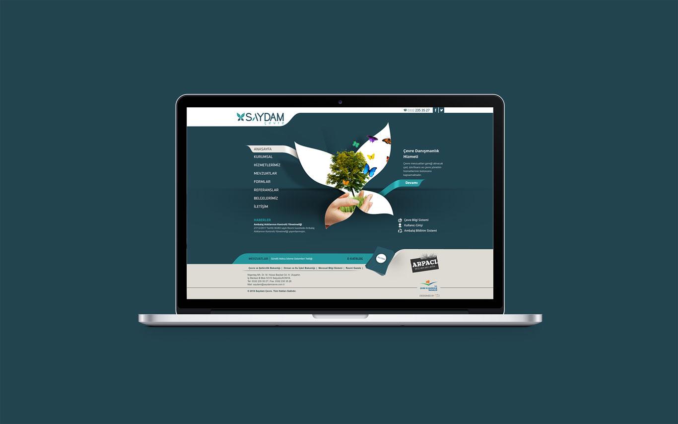 Saydam Çevre Web Tasarım Çalışması