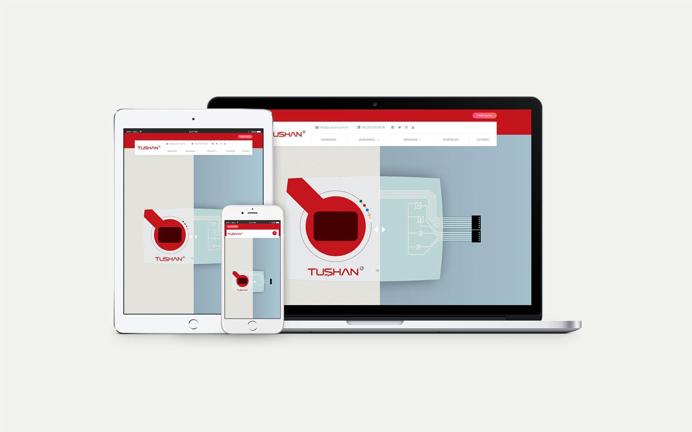 Tushan Web Tasarım Çalışması