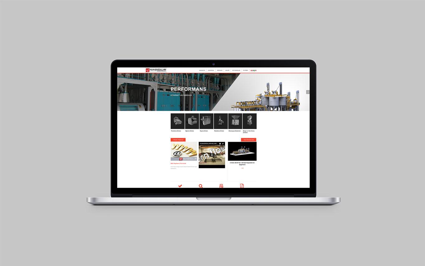 Yılmazoğulları Değirmen Web Tasarım Çalışması