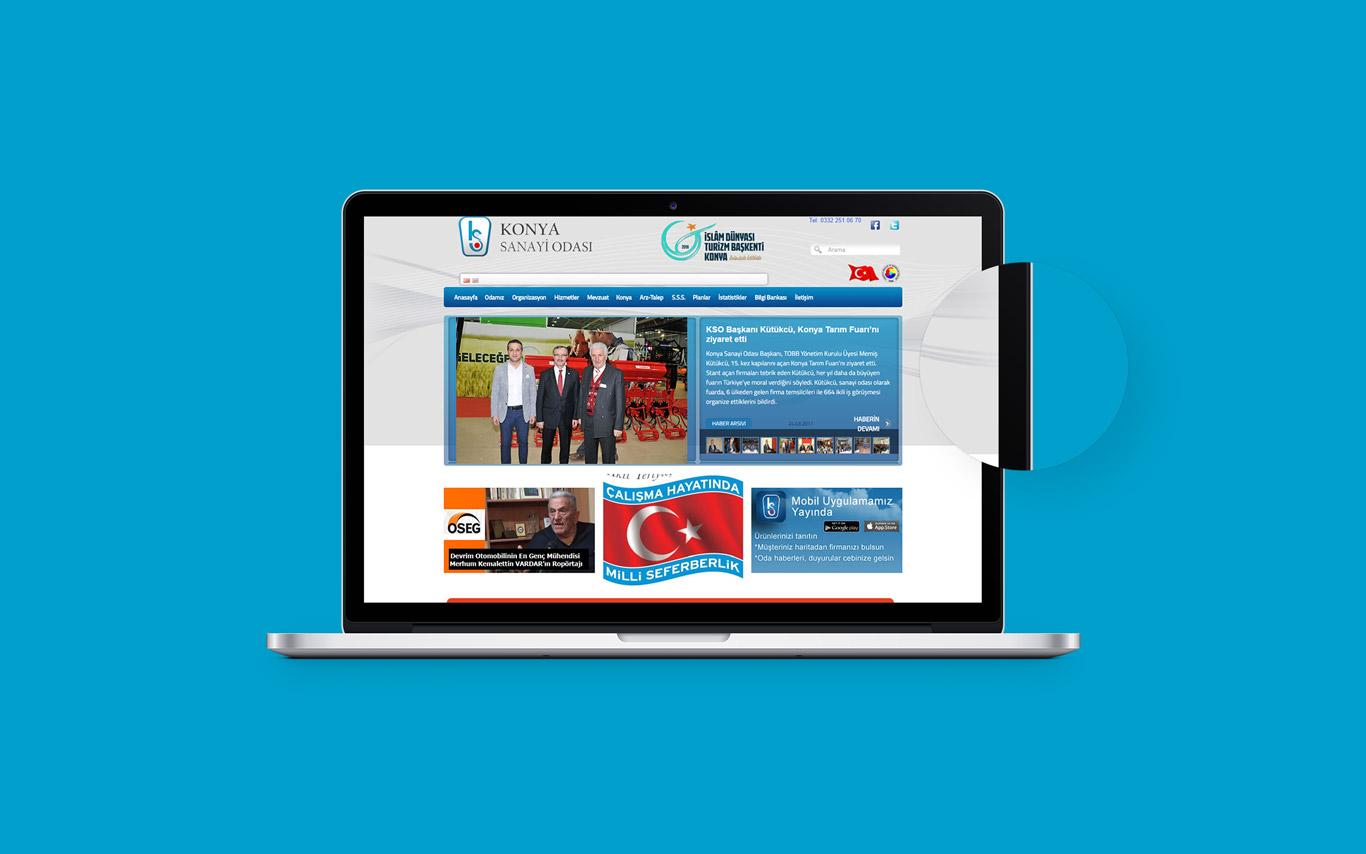 Konya Sanayi Odası Web Tasarım Çalışması