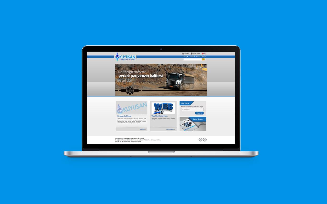 Kuyusan Otomotiv Web Tasarım Çalışması