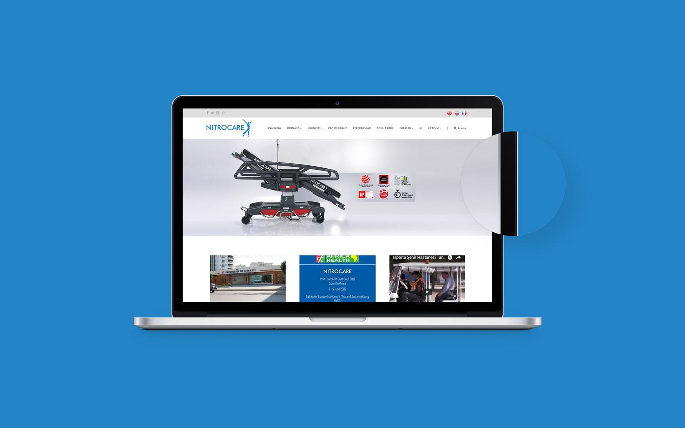 Nitrocare Web Tasarım Çalışması