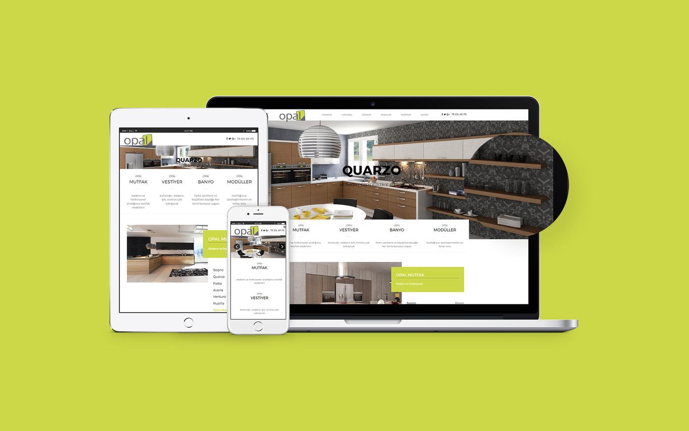 Opal Mutfak Web Tasarım Çalışması
