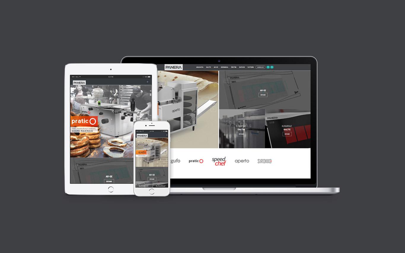 Panera Makina Web Tasarım Çalışması