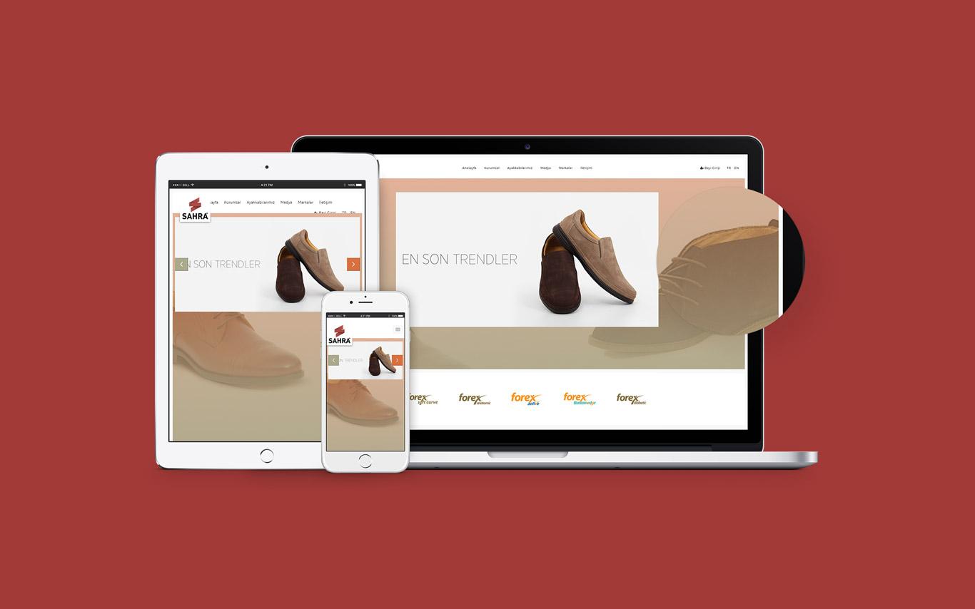 Sahra Ayakkabı Web Tasarım Çalışması