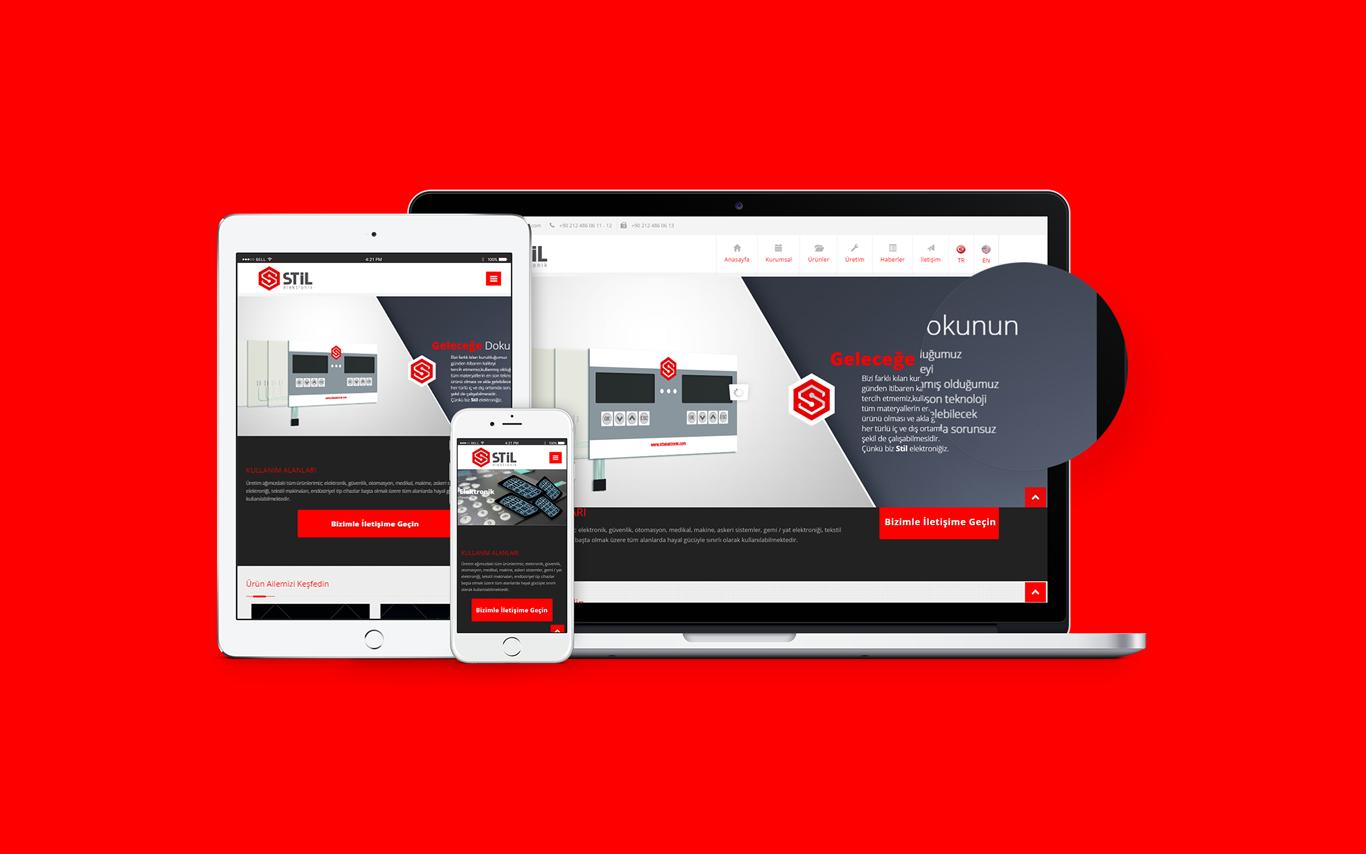 Stil Elektronik Web Tasarım Çalışması